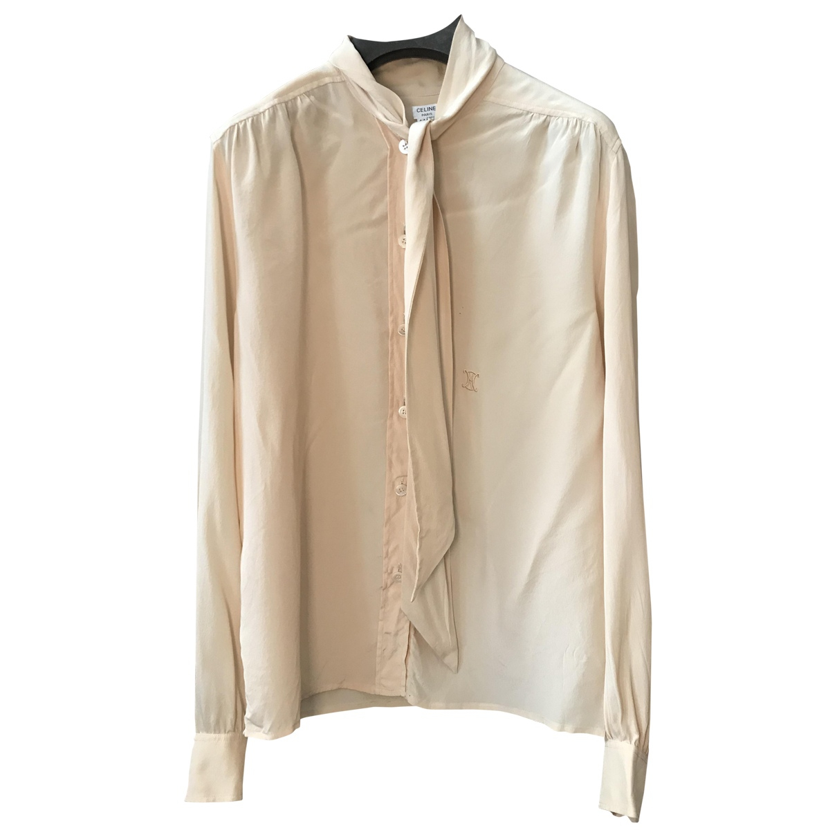 Celine \N Beige Silk  top for Women 44 IT