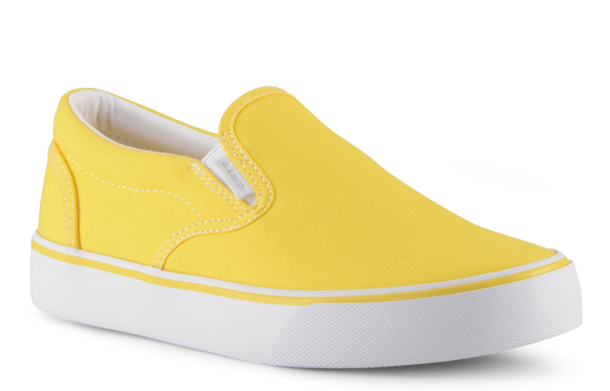Women's Clipper 2 Slip-On Sneaker (Choose Your Color: YELLOW/WHITE, Choose Your Size: 6.5)