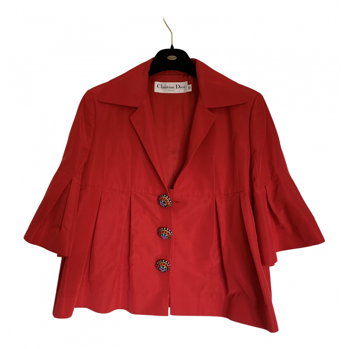 Dior N Red Cotton jacket for Women 46 IT