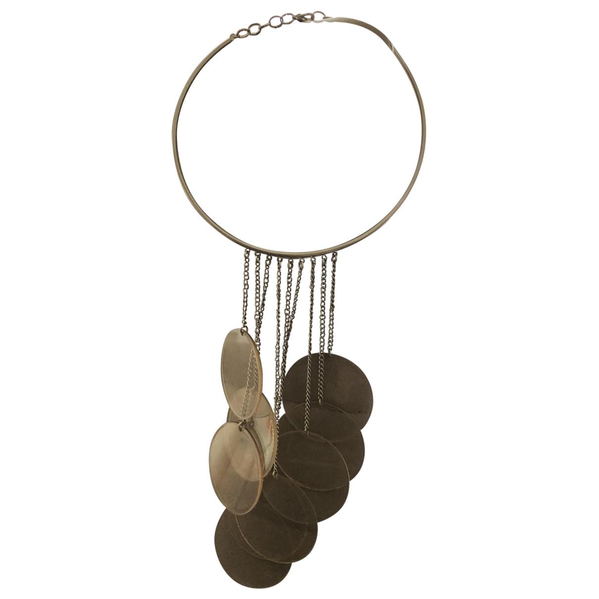 - Collier Motifs Ethniques pour femme en metal - argente