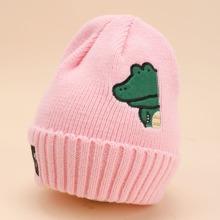 Toddler Girls Dinosaur Embroidered Beanie