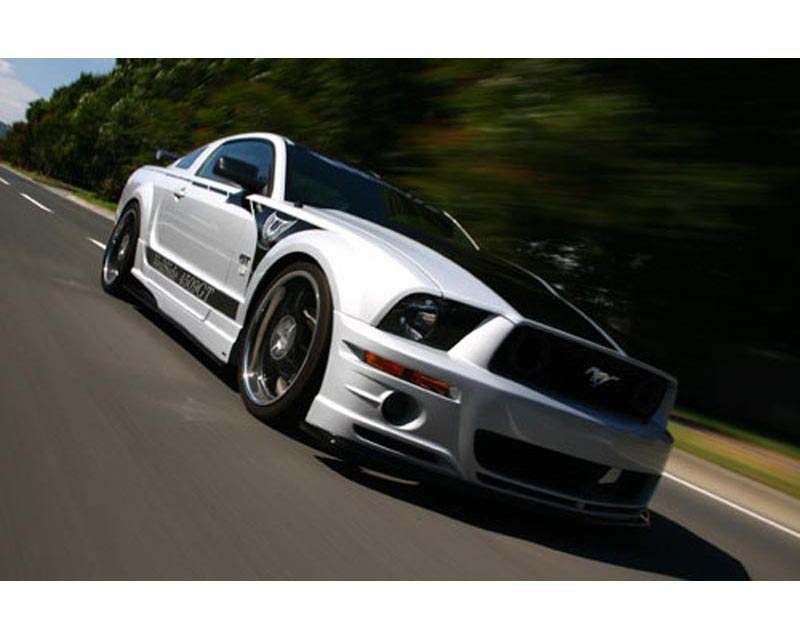 VeilSide 2005-2009 Ford Mustang GT USA Model Complete Kit (FRP) Front Bumper, Side Skirts, Door Panels, Rear Bumper & FRP Hood