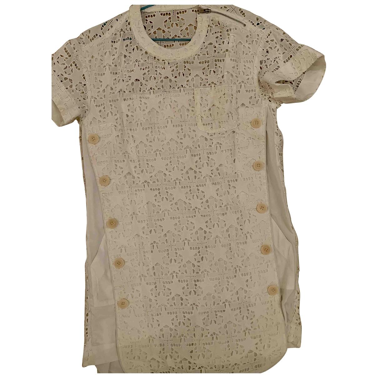 Sacai \N White Cotton dress for Women 2 0-5