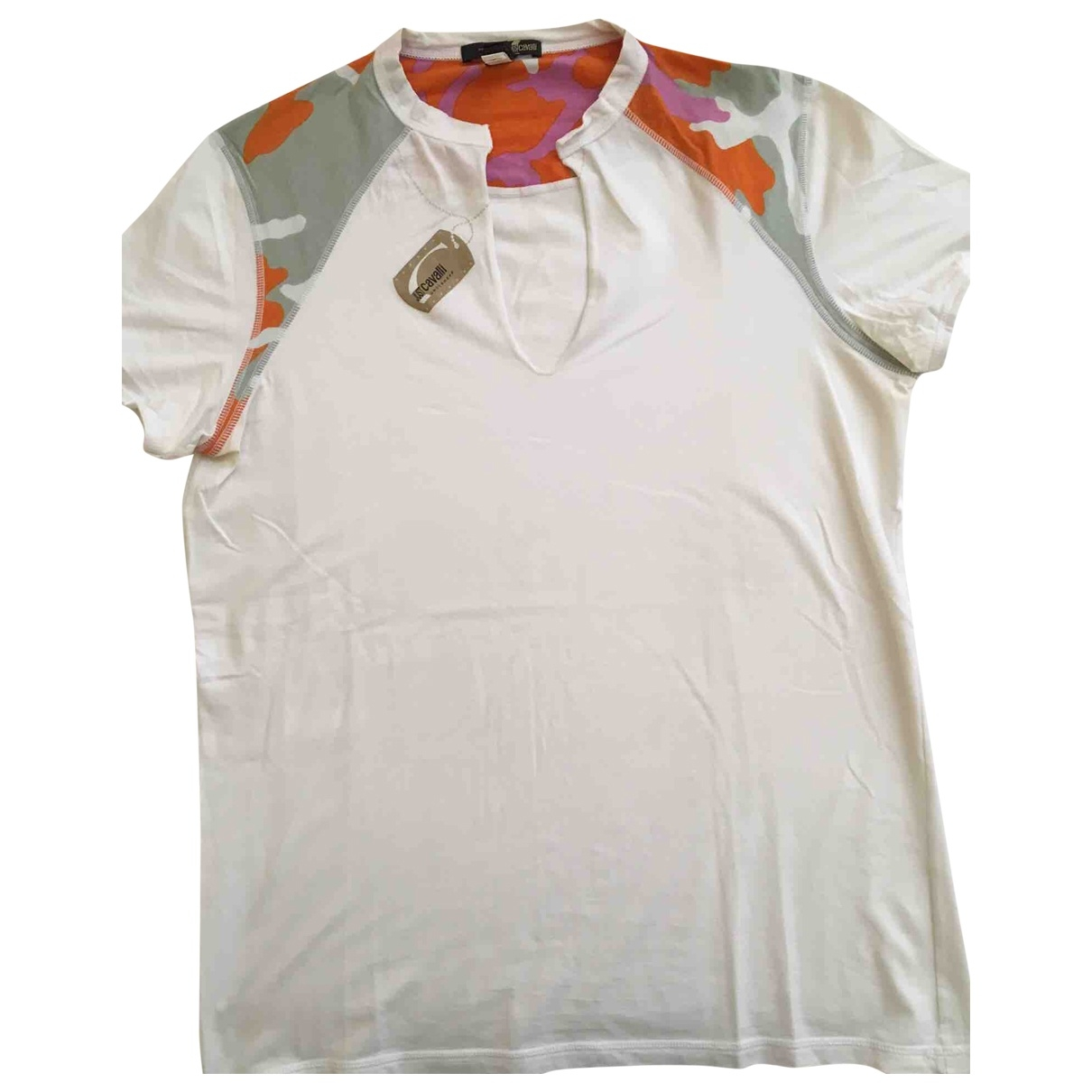 Just Cavalli \N White Cotton T-shirts for Men L International