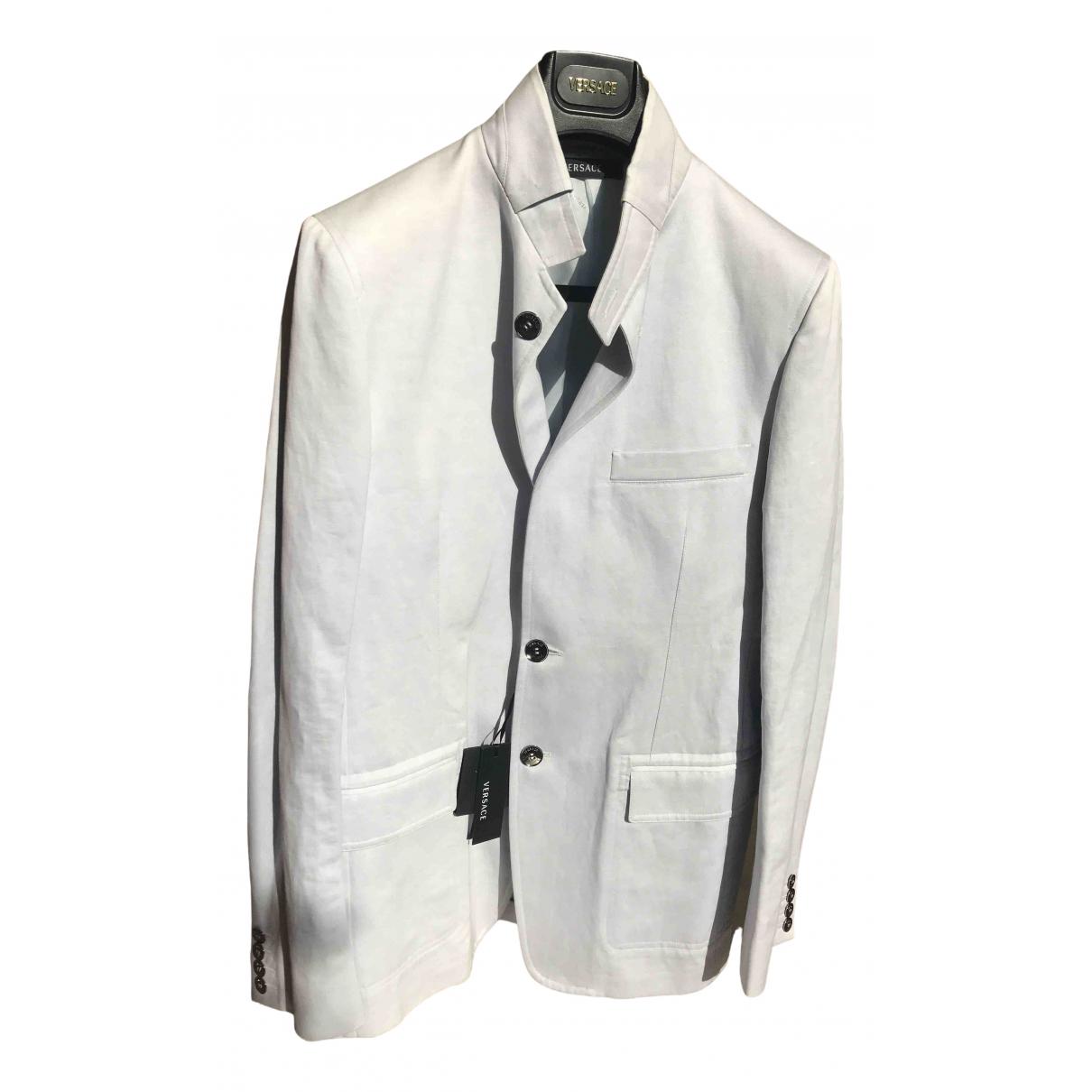 Versace N Blue Cotton jacket  for Men L International