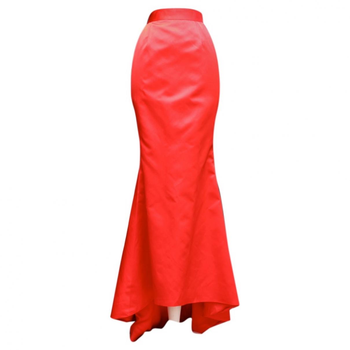 Chanel - Jupe   pour femme en soie - rouge