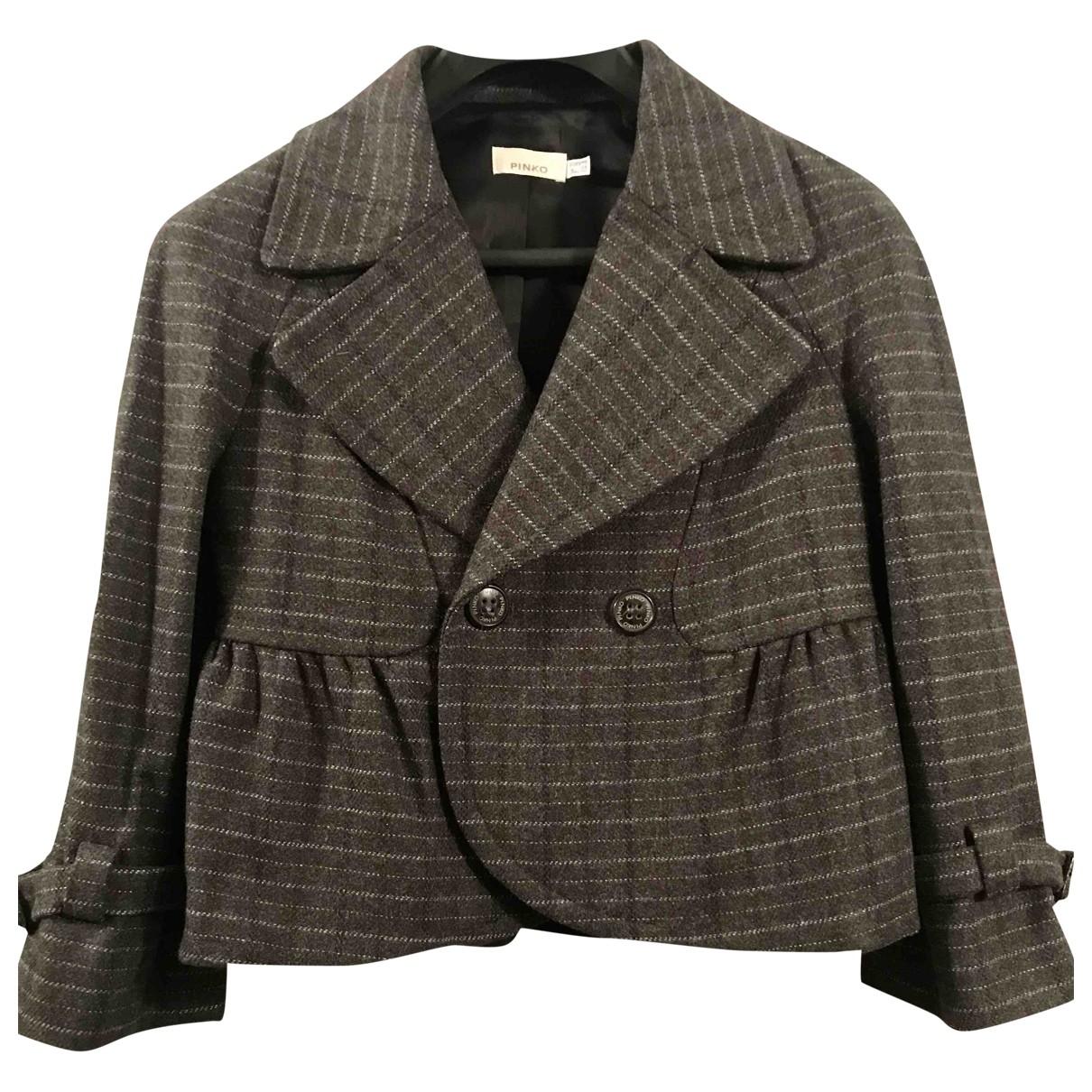 Pinko - Veste   pour femme en laine - gris