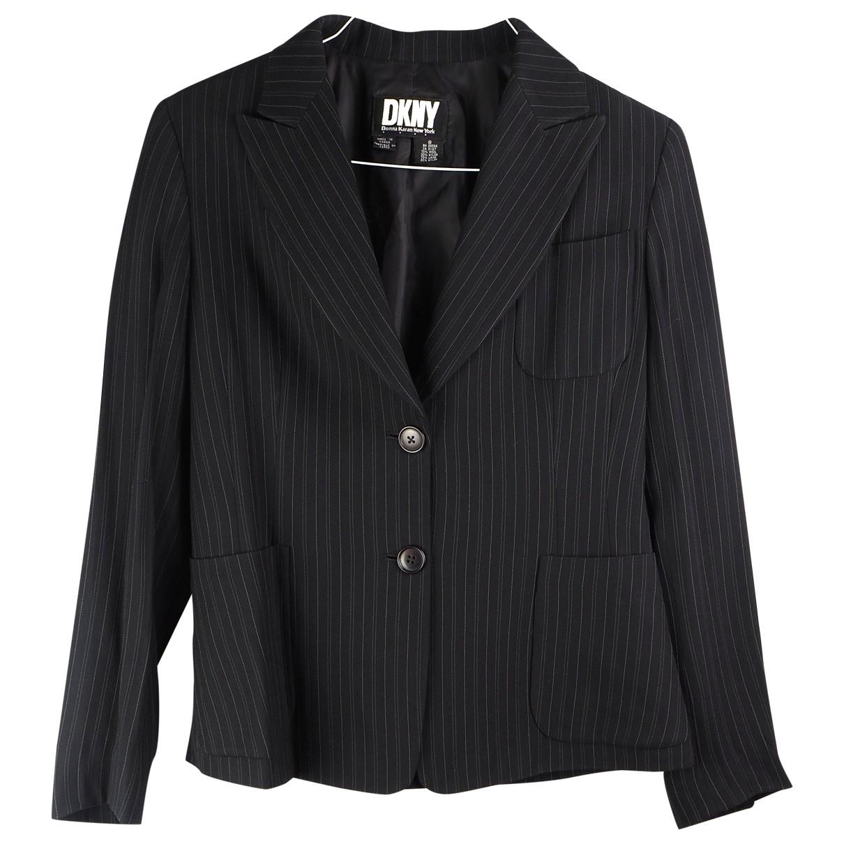 Dkny - Veste   pour femme en laine - noir