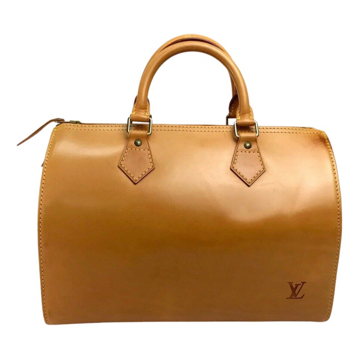 Louis Vuitton Speedy Handtasche in  Kamel Leder