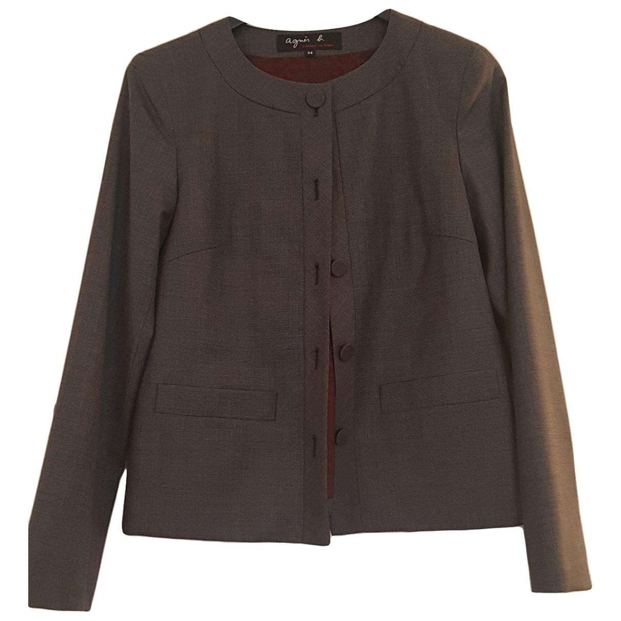 Agnes B. - Veste   pour femme en laine - gris