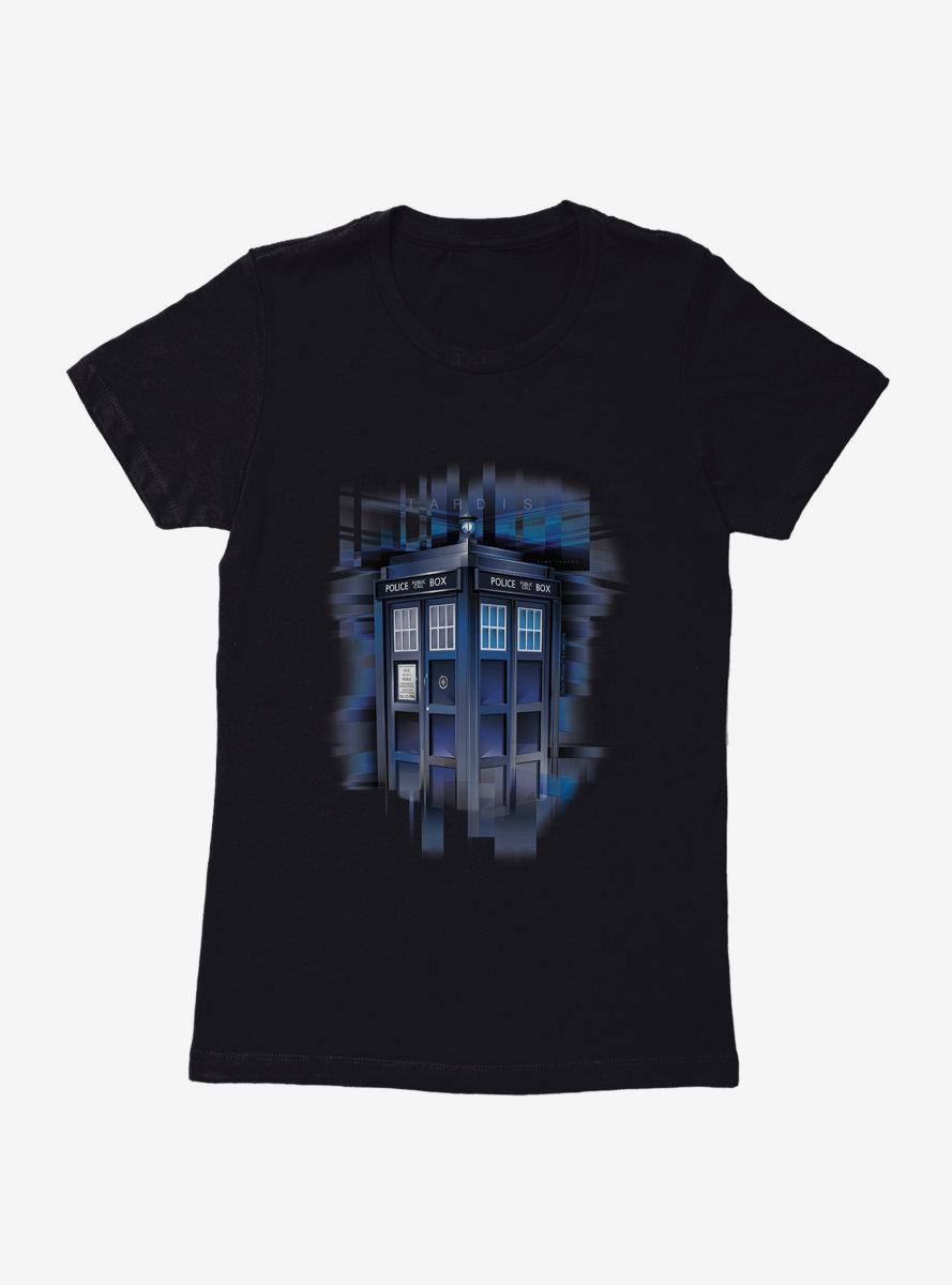 Doctor Who TARDIS Landing Womens T-Shirt
