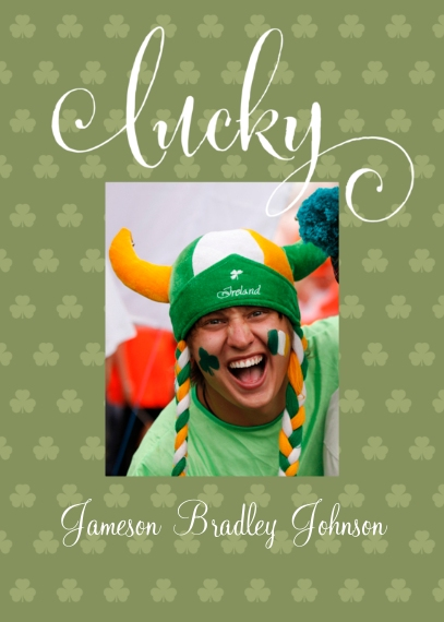 St. Patrick's Day Cards 5x7 Cards, Premium Cardstock 120lb with Elegant Corners, Card & Stationery -Lucky Clover