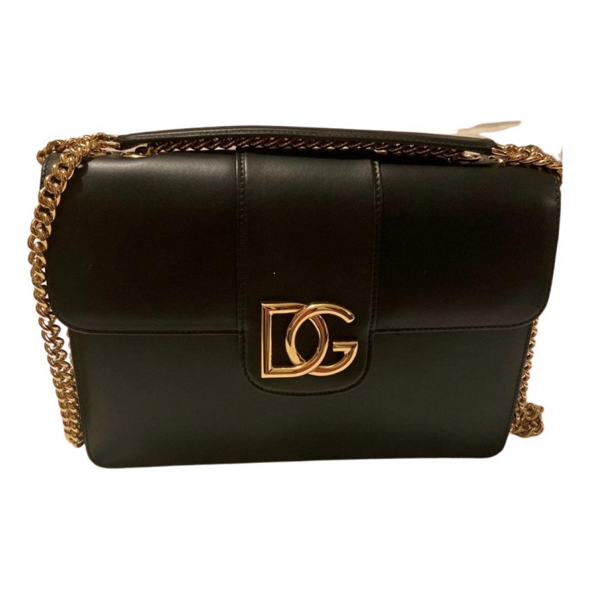 Dolce & Gabbana Millenials Handtasche in  Schwarz Leder