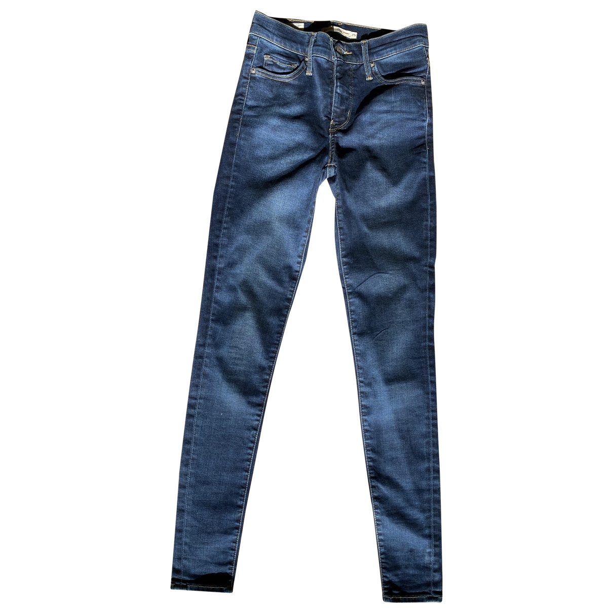 Levi's N Navy Cotton - elasthane Jeans for Women 25 US