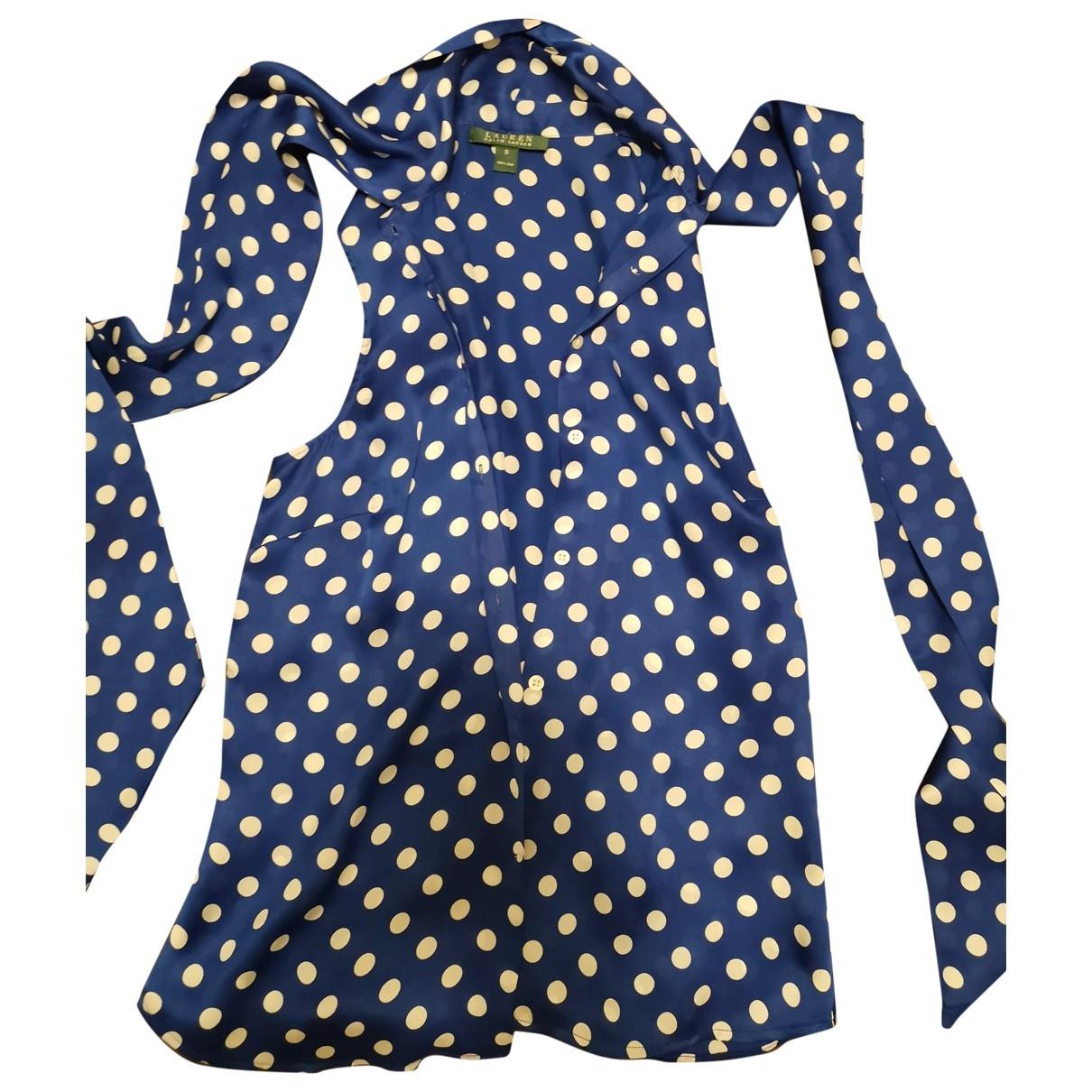Lauren Ralph Lauren - Top   pour femme en soie - bleu