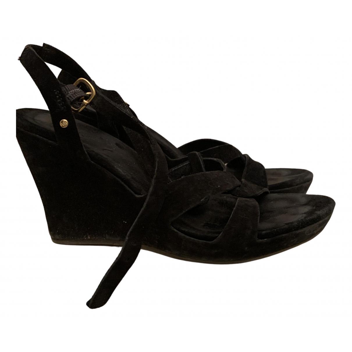 Ugg N Black Velvet Sandals for Women 37 EU