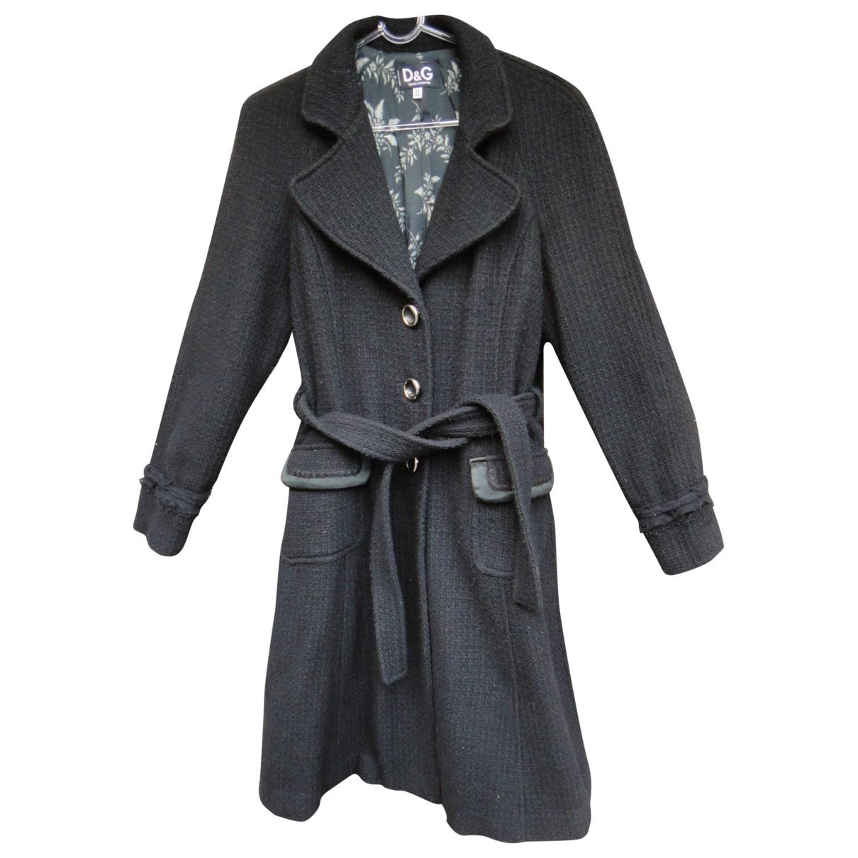 D&g - Manteau   pour femme en laine - noir