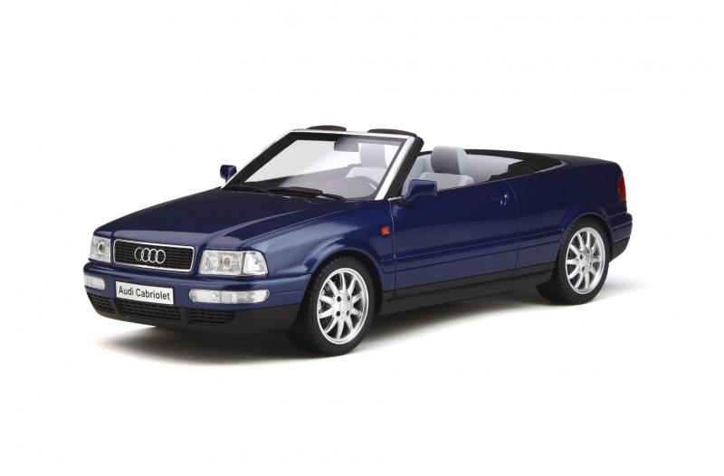 Audi 80 Cabriolet Santorini Blau / Dark Blue Limited Edition to 999 pieces Worldwide 1/18 Model Car by Otto Mobile