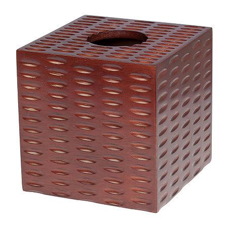 Creative Bath Casablanca Tissue Box Cover, One Size , Brown
