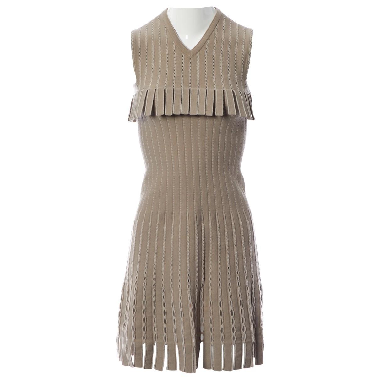 Alaïa \N Ecru Wool dress for Women 38 FR