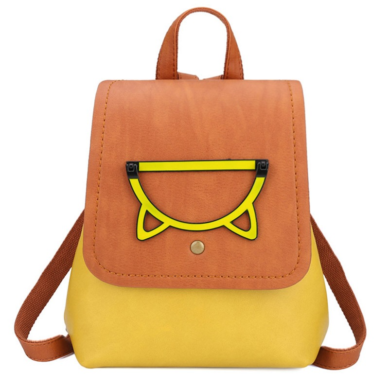 Ericdress PU Color Block Backpacks