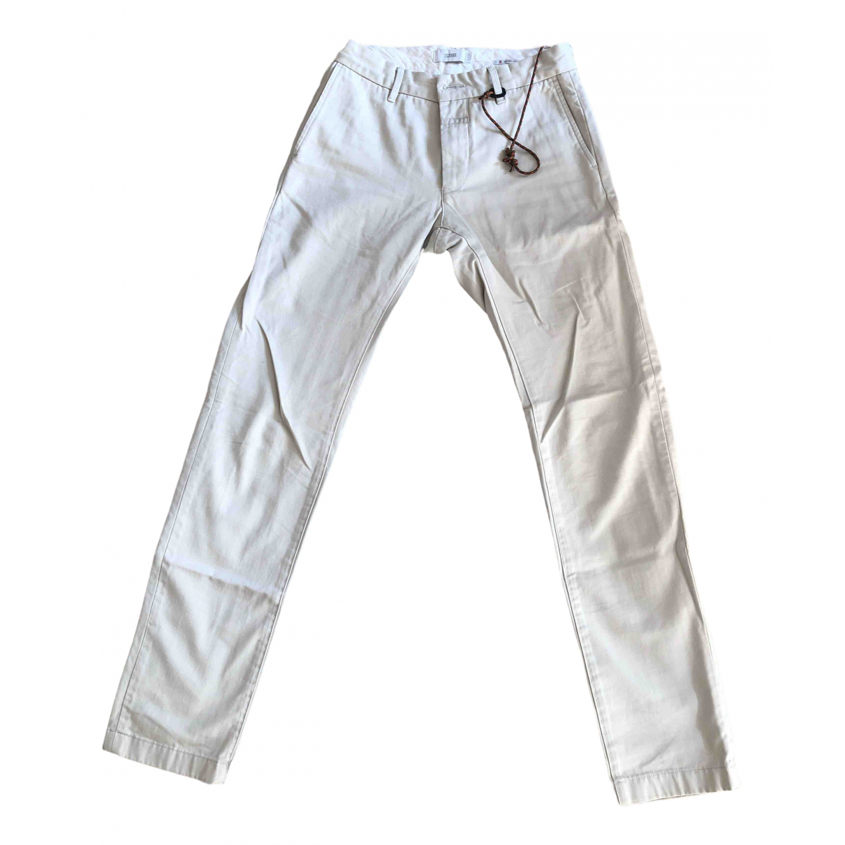 Closed \N Beige Cotton Trousers for Men 30 UK - US