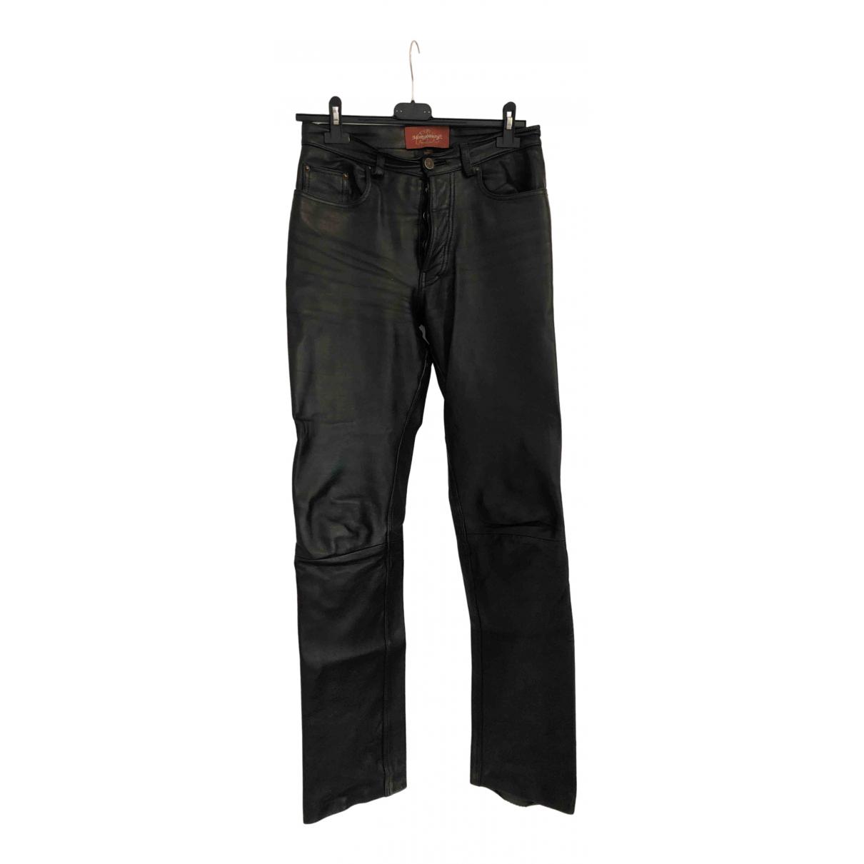 Pantalon recto de Cuero Montgomery C.p. Company