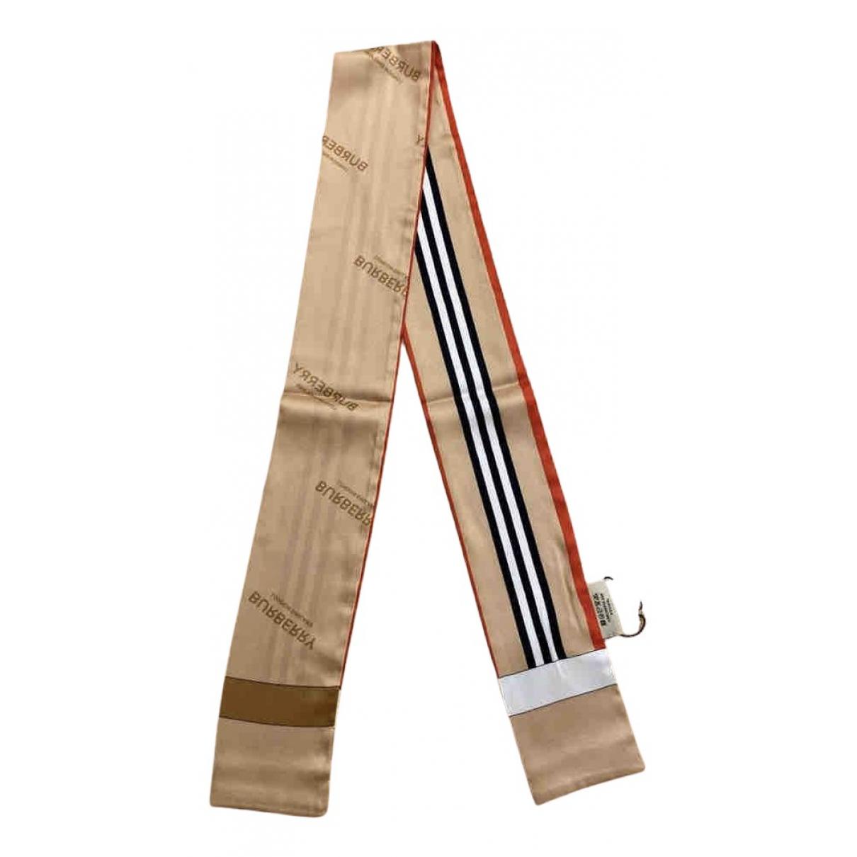 Burberry N Beige Silk scarf for Women N