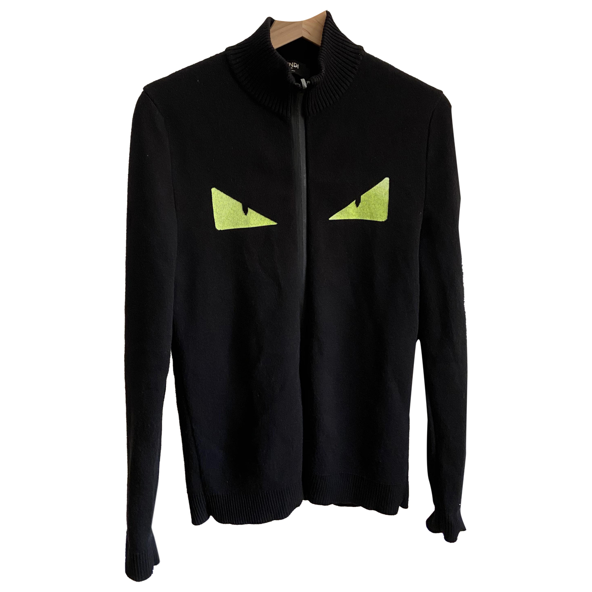 Fendi \N Pullover.Westen.Sweatshirts  in  Schwarz Synthetik