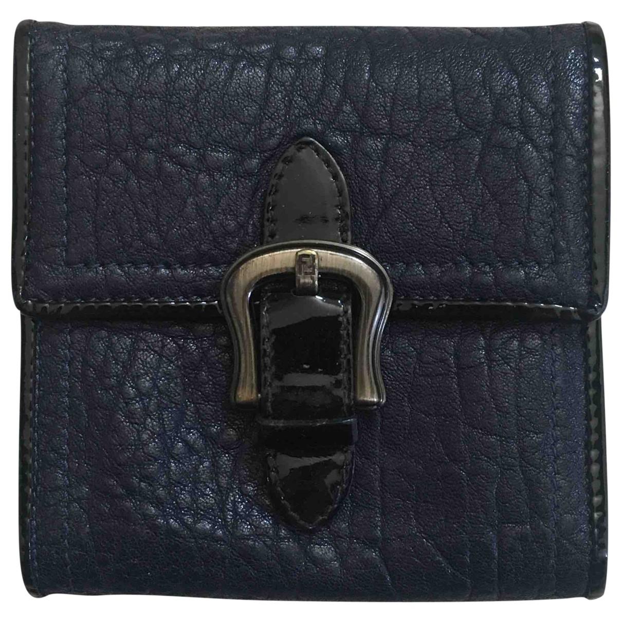 Fendi \N Black Leather wallet for Women \N