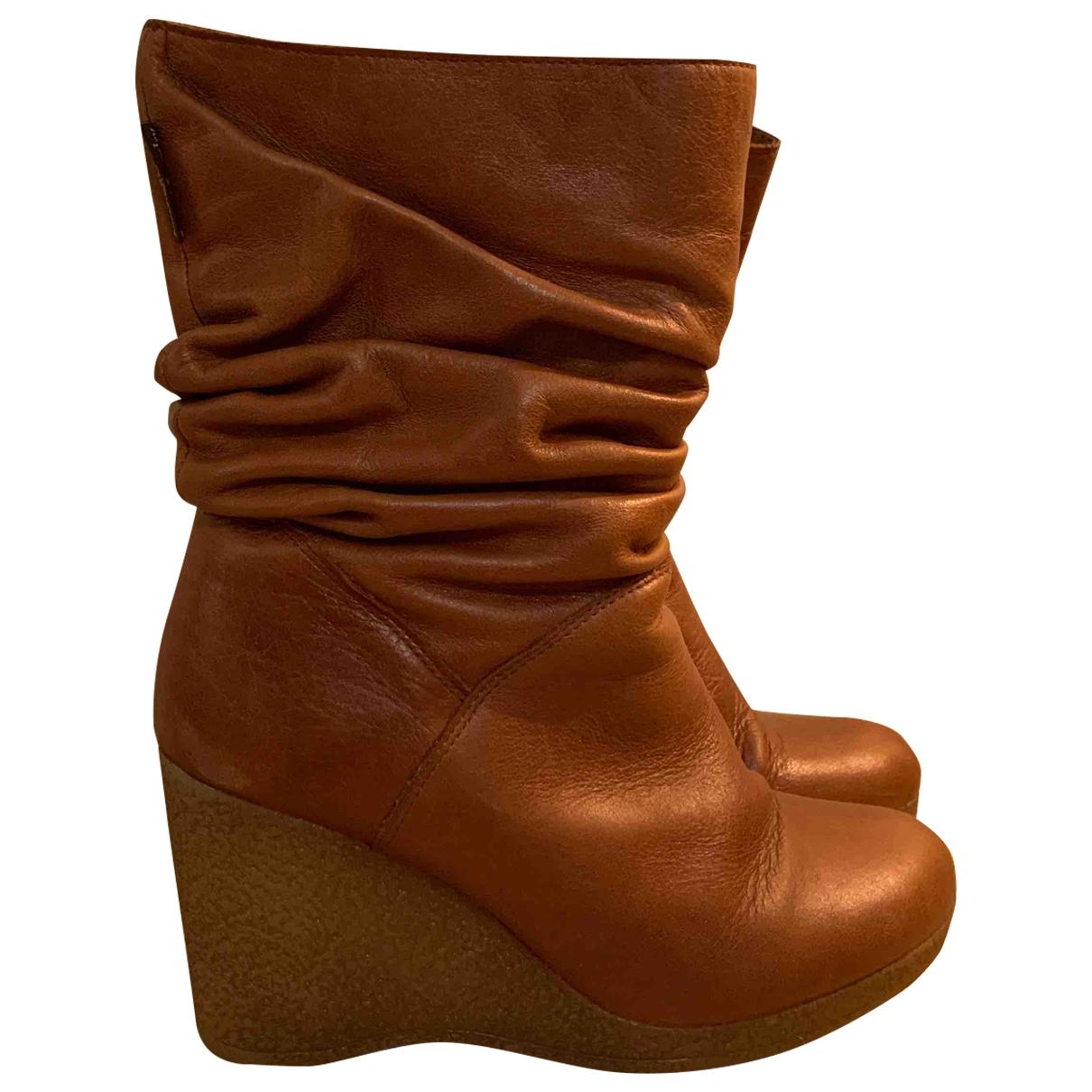 Russell & Bromley - Bottes   pour femme en cuir - camel