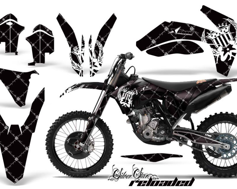 AMR Racing Dirt Bike Decal Graphics Kit Wrap For KTM SX/SX-F/XC/EXC/XFC-W 2011-2013áRELOADED WHITE BLACK