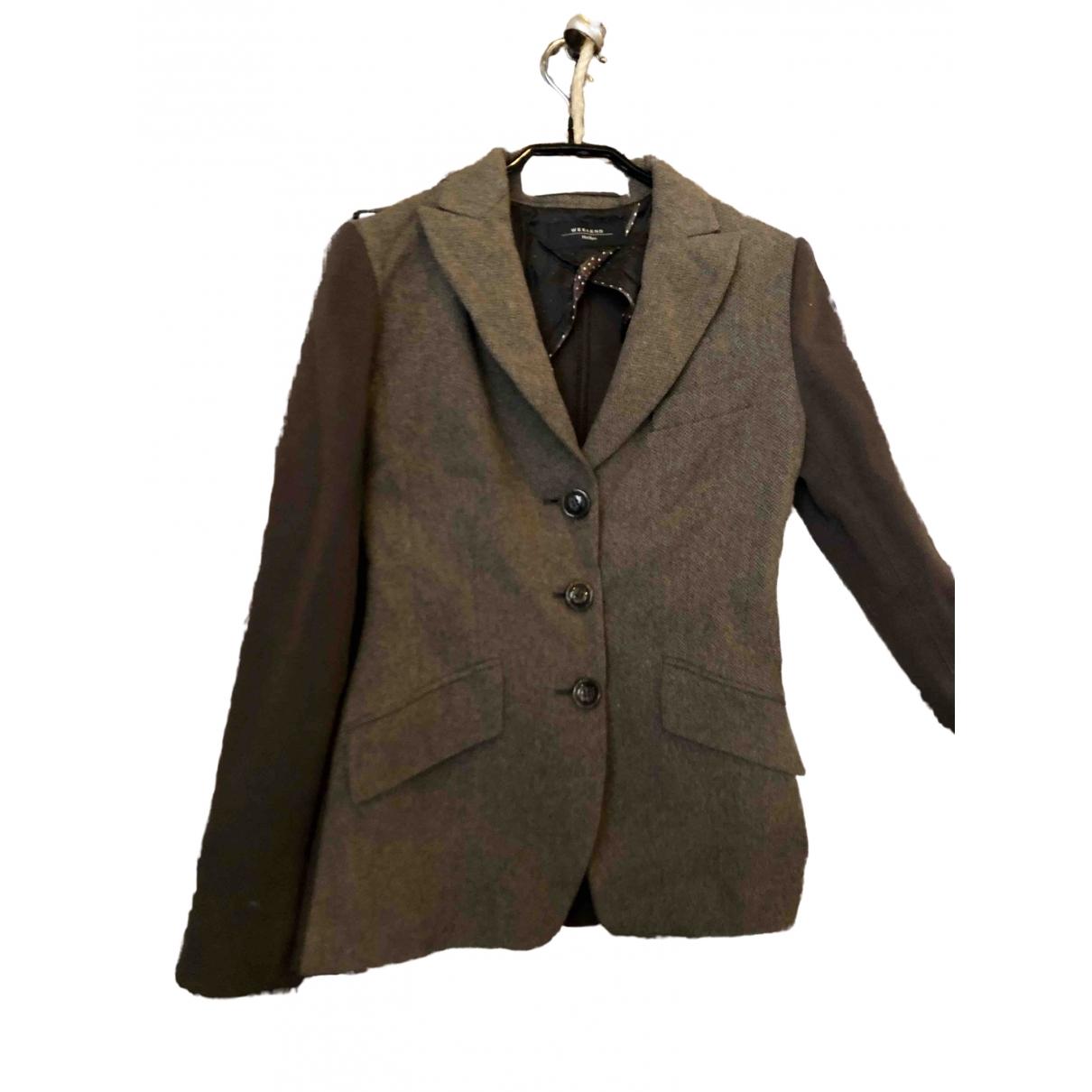 Max Mara Weekend - Veste   pour femme en laine - marron