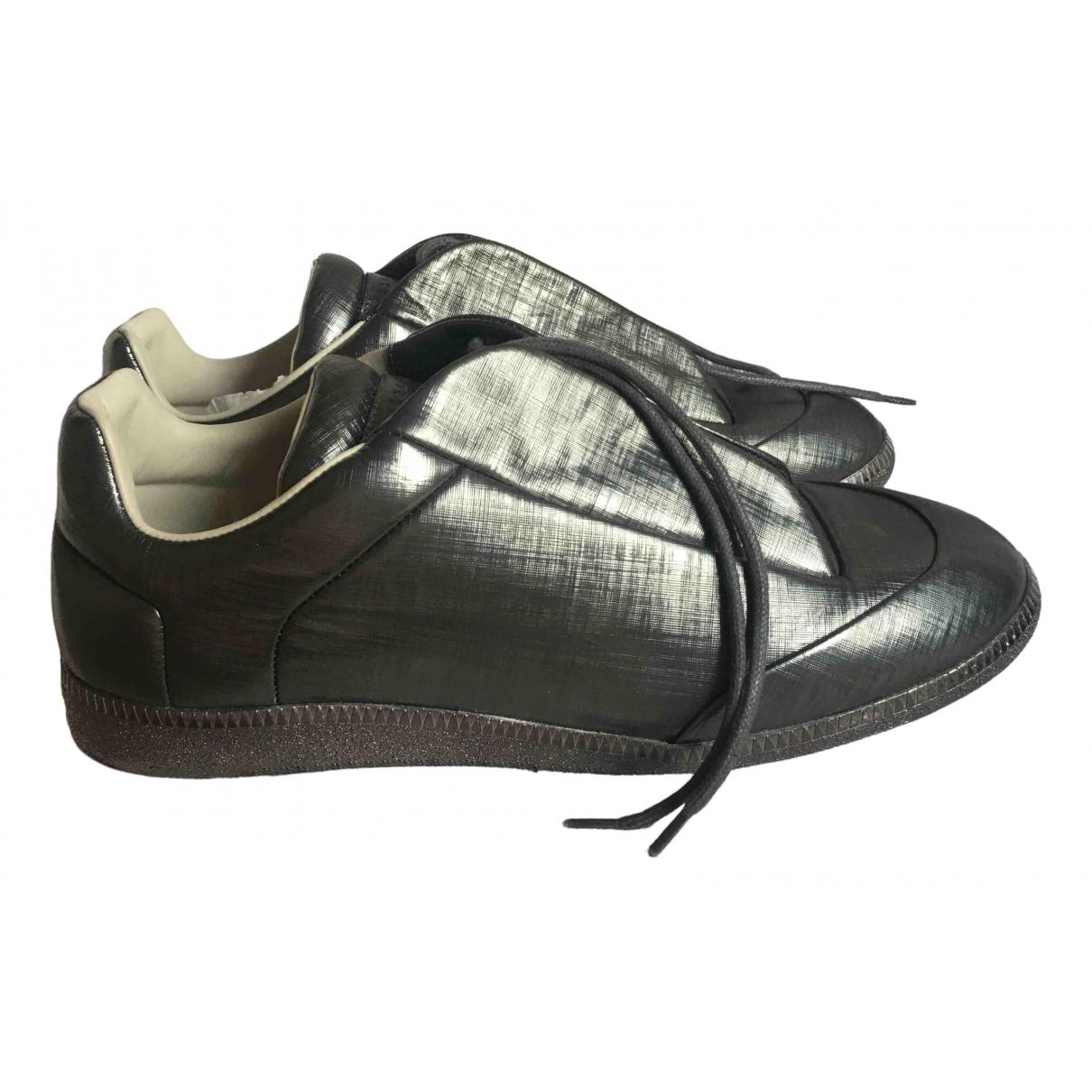 Maison Martin Margiela Future Sneakers in  Anthrazit Leinen