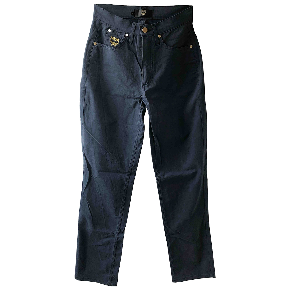 Mcm \N Blue Cotton Trousers for Women S International