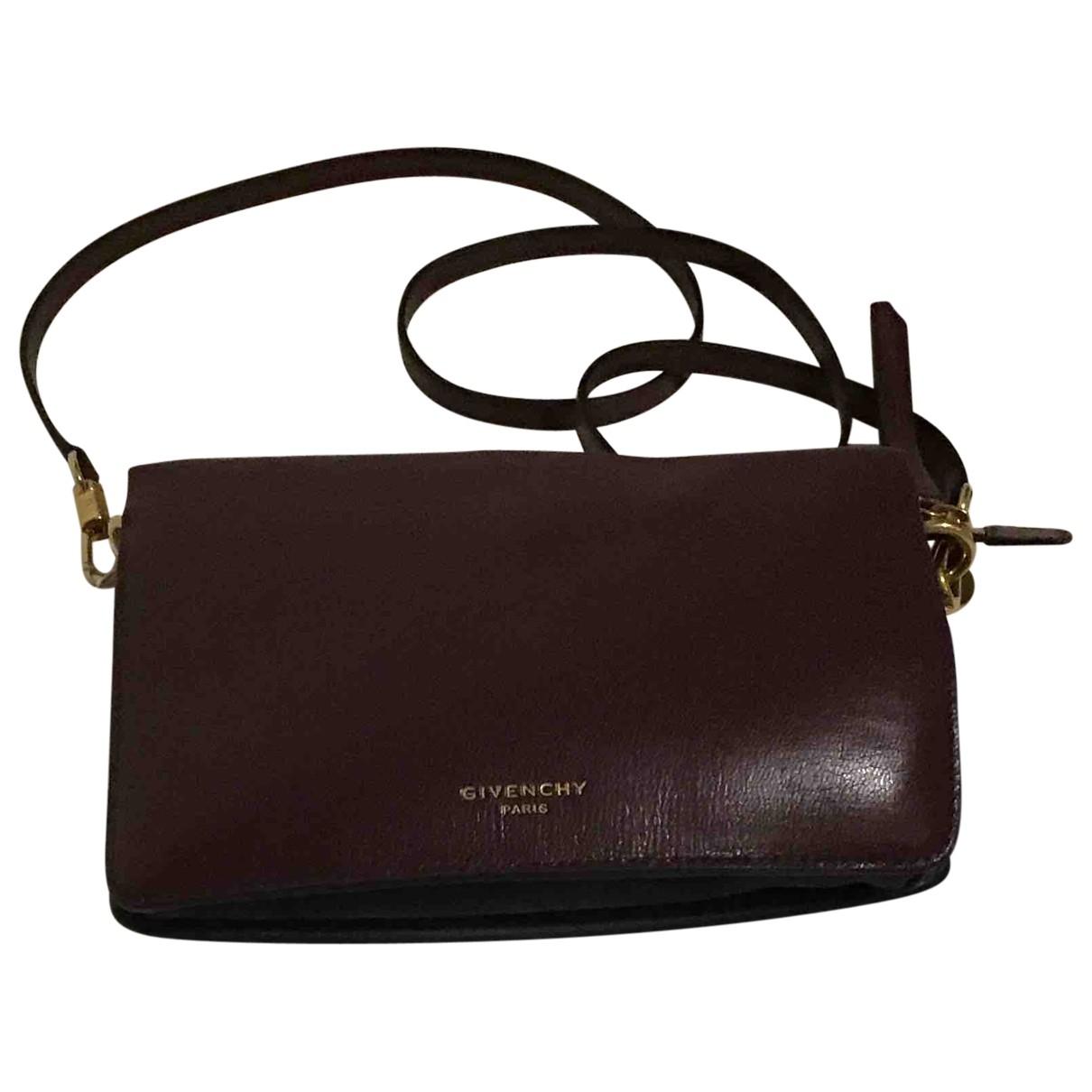 Givenchy - Pochette   pour femme en cuir - bordeaux