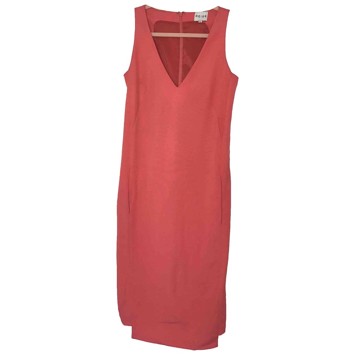 Reiss \N Kleid in  Orange Viskose