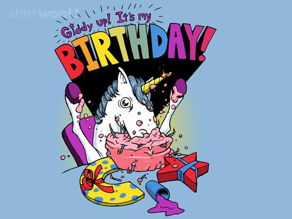 Unicorn Birthday T Shirt