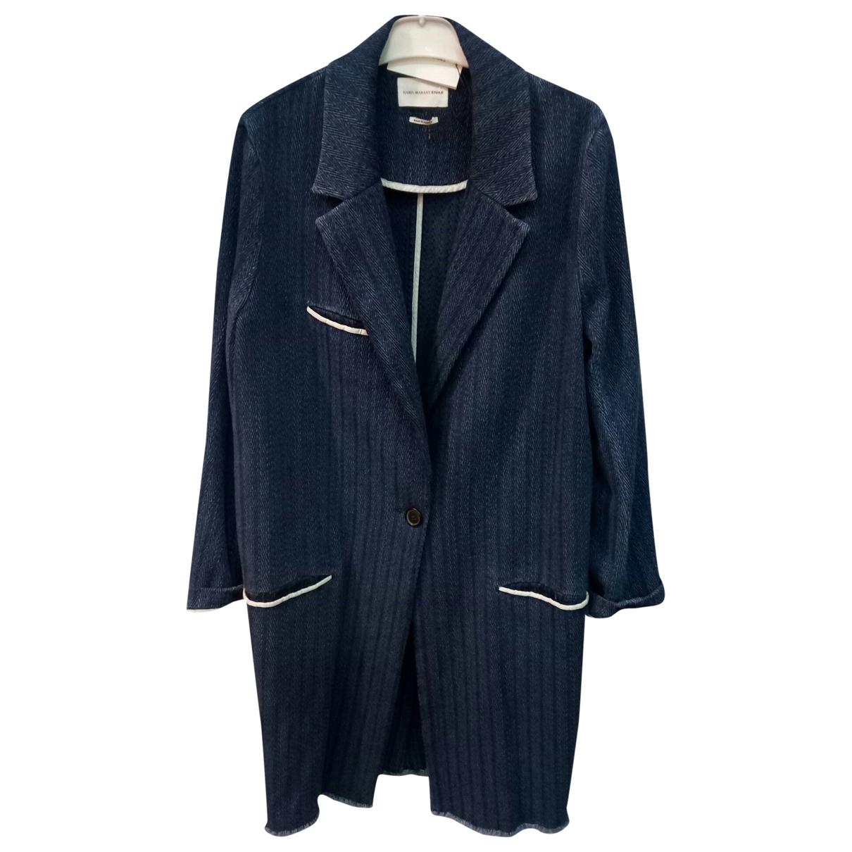Isabel Marant Etoile - Manteau   pour femme en coton - bleu
