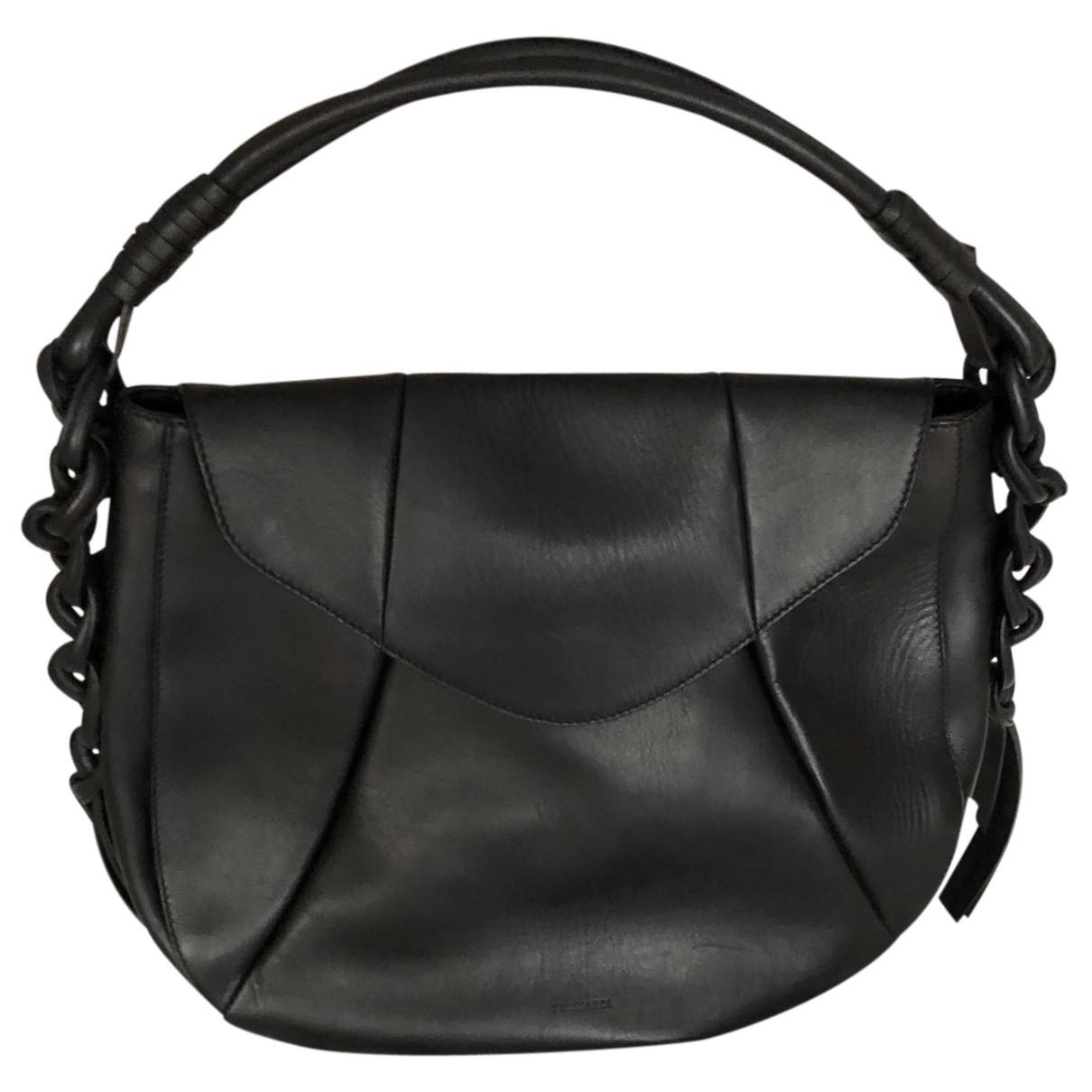 Trussardi N Black Leather handbag for Women N