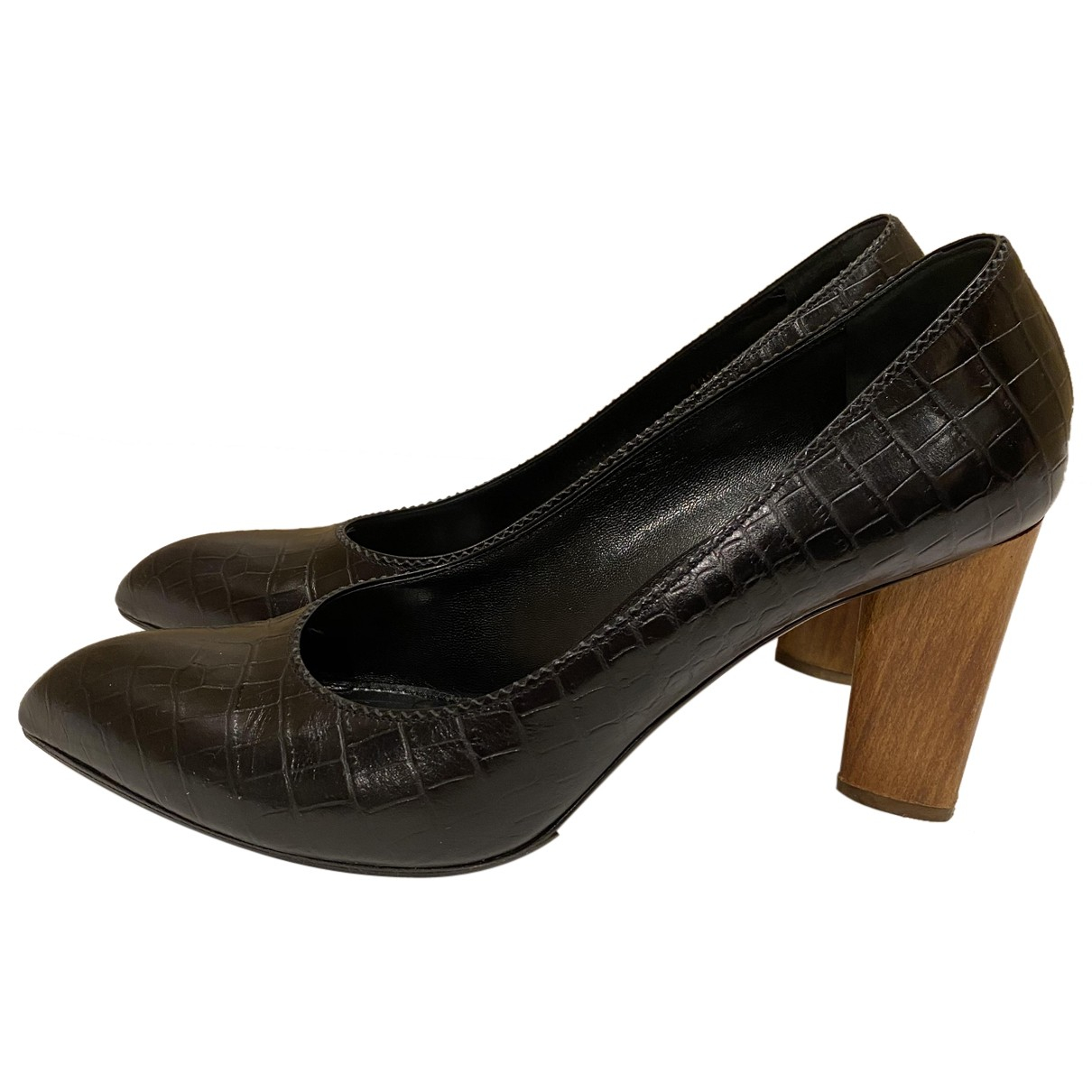 Yves Saint Laurent - Escarpins   pour femme en cuir - noir