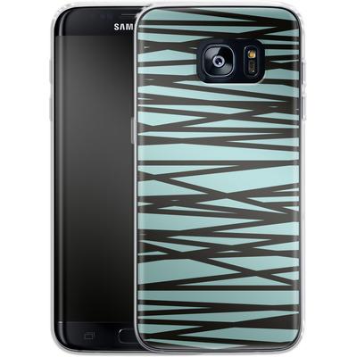 Samsung Galaxy S7 Edge Silikon Handyhuelle - Rendezvous Stripe von Khristian Howell
