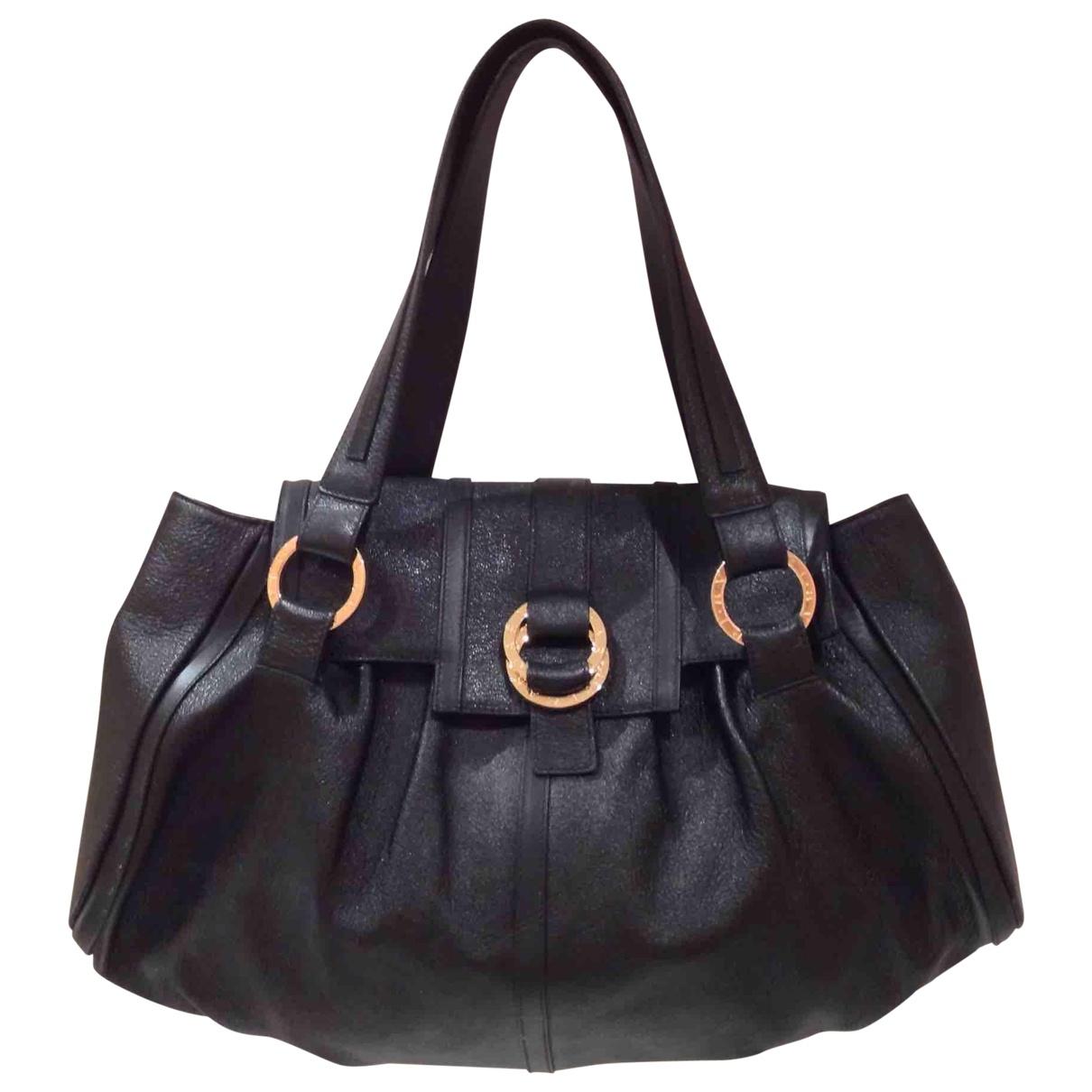 Bvlgari \N Black Leather handbag for Women \N