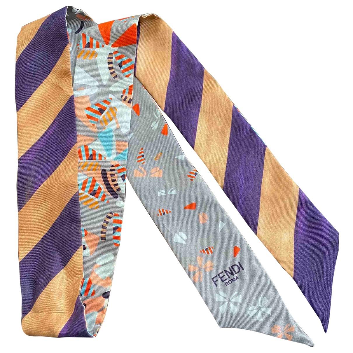 Fendi \N Blue Silk scarf for Women \N
