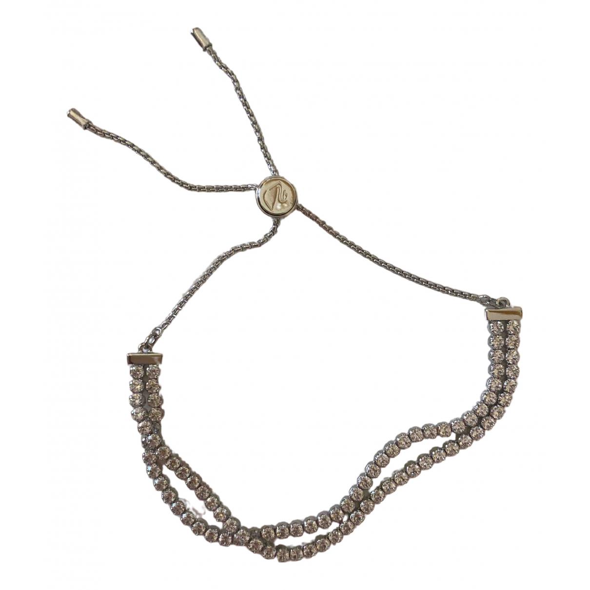 Swarovski \N Armband in  Weiss Metall