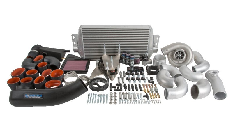 Vortech V-3 Si Polished Tuner Kit with Air/Air Cooler Ford Mustang GT 5.0L 11-14