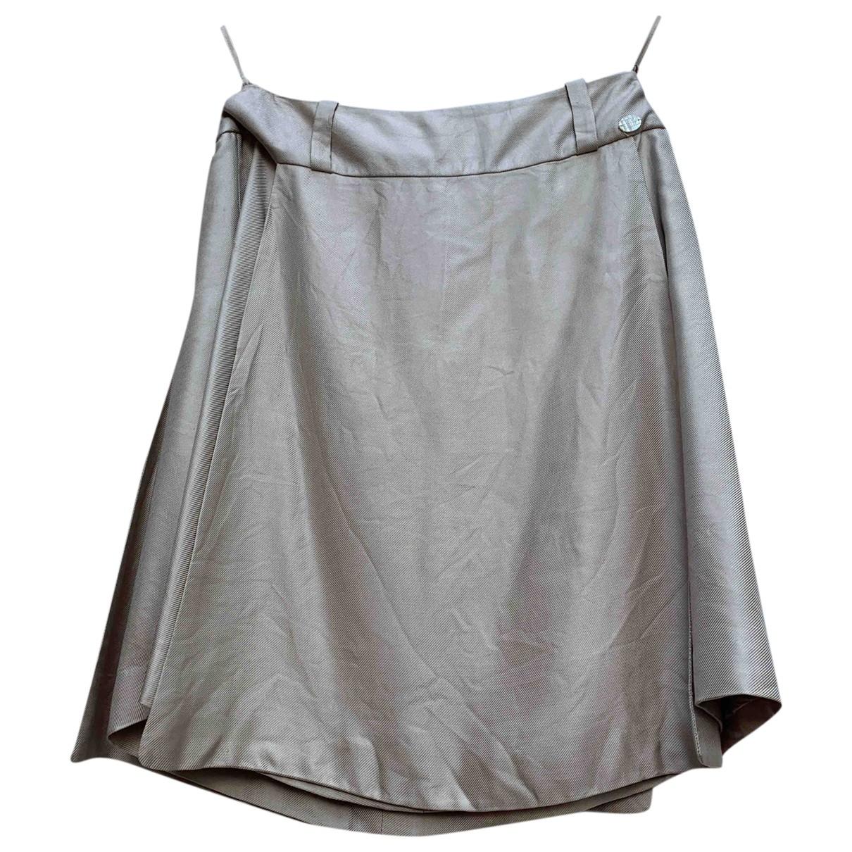 Chanel - Jupe   pour femme en soie - beige