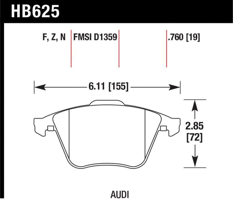 Hawk Performance HB625B.760 Disc Brake Pad Front