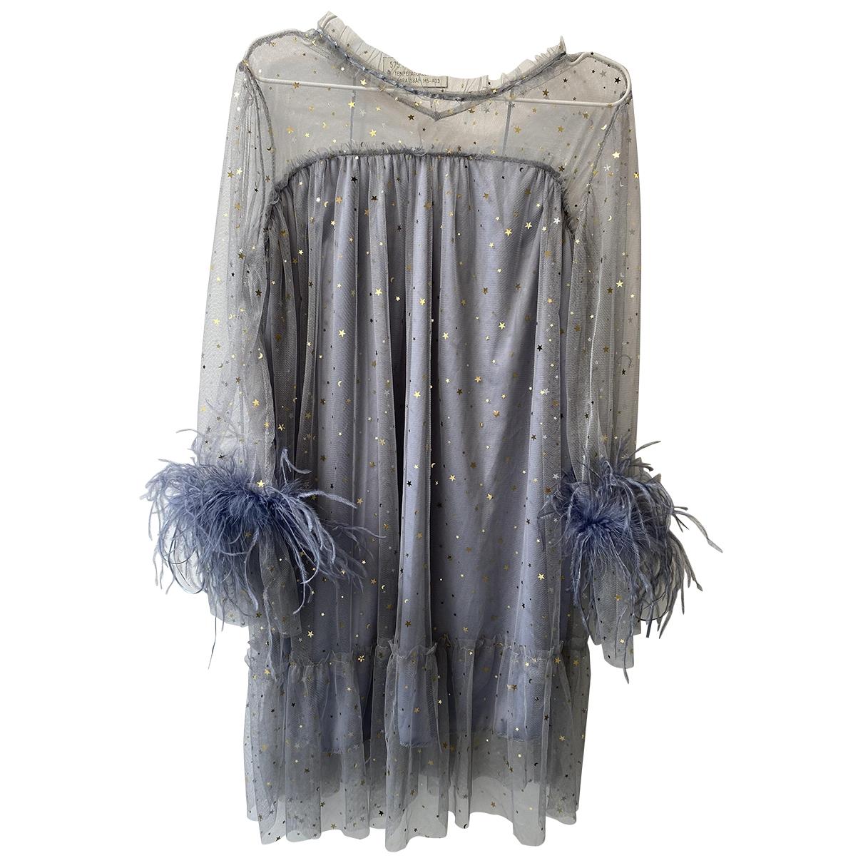 - Robe   pour femme en fourrure - gris