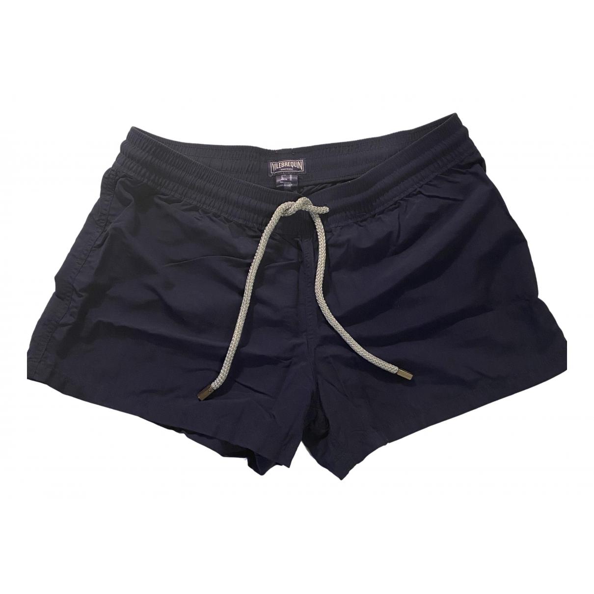 Vilebrequin \N Shorts in  Marine Leinen
